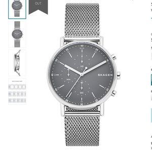 Skagen Men's Signatur Steel-mesh Chronograph Witch